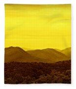 Smoky Mountain Glow Fleece Blanket
