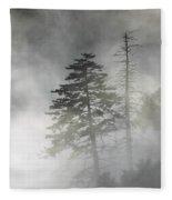 Smoky Mountain Mist Fleece Blanket