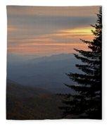 Smoky Mountain Sentinel  Fleece Blanket