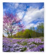Smoky Mountain Spring Fleece Blanket