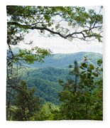 Smoky Mountain View Laurel Falls Trail Fleece Blanket