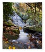 Smoky Mountain Waterfall Fleece Blanket