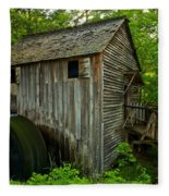 Smoky Mountains Grist Mill Fleece Blanket