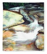 Smoky Mountains Waterfall Fleece Blanket