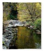 Smoky Mountian River Fleece Blanket