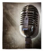 Smoky Vintage Microphone Fleece Blanket