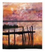 Smoldering Sunrise Fleece Blanket