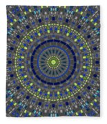 Smooth Squares Kaleidoscope Fleece Blanket