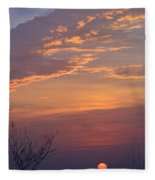 Smooth Sunset Fleece Blanket