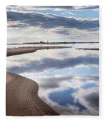 Smooth Water Reflections Fleece Blanket