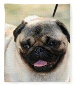 Smug Pug Fleece Blanket