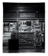 Snack Shop Bw Fleece Blanket