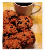 Snack Time - Muffins And Coffee Fleece Blanket