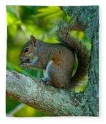Snacking Squirrel Fleece Blanket