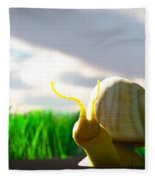Snail And Grass... Fleece Blanket