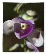 Snail Flower In The Spot Light Fleece Blanket