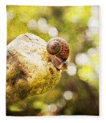 Snail Of A Time Fleece Blanket