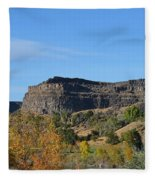 Snake River Canyon At Twin Falls Fleece Blanket