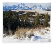 Snake River Overlook Fleece Blanket