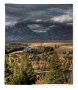 Snake River Storm Fleece Blanket