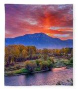 Snake River Sunrise Fleece Blanket