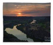 Snake River Sunset Fleece Blanket