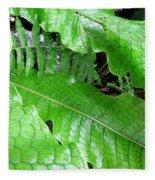 Snake Skin Plant Fleece Blanket