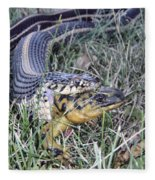 Snake With Legs Fleece Blanket