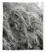 Snow And Ice Covered Trees At The Base Of Niagara Falls Fleece Blanket