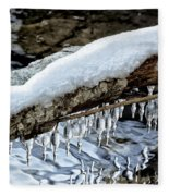 Snow And Icicles No. 1 Fleece Blanket