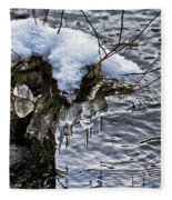 Snow And Icicles No. 2 Fleece Blanket
