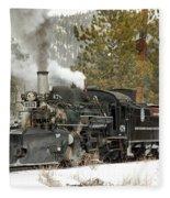 Snow And Steam Fleece Blanket