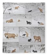 Snow Angels Paso Fino Style Fleece Blanket