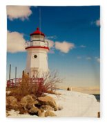 Snow At Cheboygan Crib Fleece Blanket
