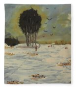 Snow At Christmas Fleece Blanket