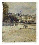 Snow At Marly-le-roi Fleece Blanket