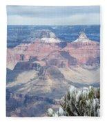 Snow At The Grand Canyon Fleece Blanket