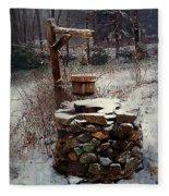 Snow At Twilight Fleece Blanket