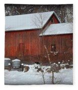 Snow Barn II Fleece Blanket