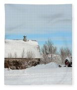 Snow Barns Fleece Blanket