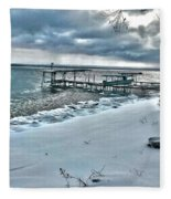 Snow Beach Fleece Blanket