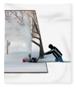 Snow Blower Fleece Blanket