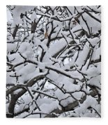 Snow Branches 2-1-15 Fleece Blanket