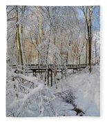 Snow Bridge Fleece Blanket