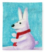 Snow Bunny Fleece Blanket