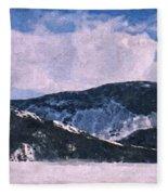 Snow Clouds - Winter - Ice Fleece Blanket