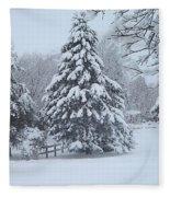 Snow Conifer 2-1-15 Fleece Blanket