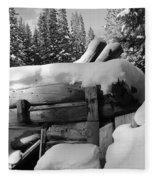Snow Covered History Fleece Blanket
