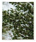Snow Covered Pine Trees Fleece Blanket