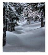 Snow Covered Trail Fleece Blanket